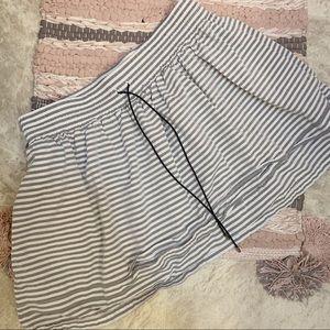 Kate Spade Saturday | Grey & White Striped Skirt